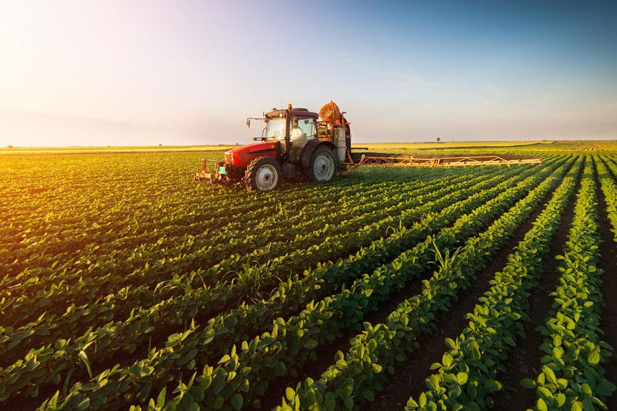 Farm Insurance - Farm Machinery in a Field